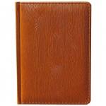 Ежедневник недатированный Attache Вуд коричневый, А6, 176 листов, искусственная кожа