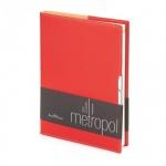 Ежедневник недатированный Bruno Visconti Metropol красный, А5, 136 листов