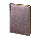 Ежедневник недатированный Альт Caiman коричневый, А5+, 136 листов, искусственная кожа, золотой срез