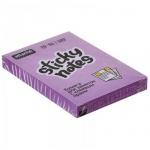 Блок для записей с клейким краем Attache фиолетовый, неон, 51x76мм, 100 листов