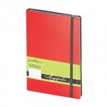 Ежедневник недатированный Bruno Visconti Megapolis Soft красный, А5, 136 листов, искусственная кожа