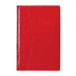 Ежедневник недатированный Attache красный, А5, 176 листов, искусственная кожа