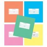 Тетрадь школьная Мировые Тетради Однотонная ассорти, А5, 12 листов, в клетку, на скрепке, мелованный картон