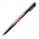 Маркер для пленок перманентный Edding 143В, 1-3мм, скошенный наконечник, для деликатных гладких поверхностей, синий