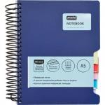 Тетрадь Attache Office Book, 200 листов, в клетку, на спирали, пластик, 5разделителей