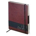 Ежедневник недатированный Zenith бордовый, B5, 136 листов, искусственная кожа