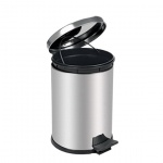 Контейнер для мусора с педалью Lime Crom, металлик, 16л, A 55016