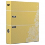 Папка-регистратор А4 Attache Selection Амели 80мм, желтая, с арочным механизмом