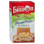 Каша овсяная Дядюшка Бишоп персик со сливками, 6шт x 40г