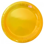Тарелка одноразовая Horeca желтая, d=23см, 50шт/уп