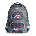 Рюкзак для мальчиков Brauberg Красная машина, серый