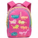 Рюкзак для девочек Grizzly фуксия, RG-657-4