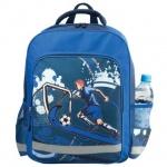 Рюкзак для мальчиков Пифагор Футболист, синий