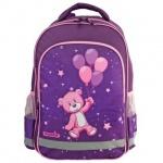 Рюкзак для девочек Пифагор Медвежонок на шарике, розово-фиолетовый