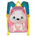 Рюкзак для девочек Grizzly Котенок, розовый, RS-546-1