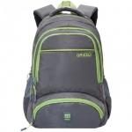 Рюкзак для мальчиков Grizzly серо-салатовый, RU-618-6