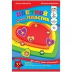 Аппликация из мягкого пластика Апплика Сердечки, 21х30см, 6 листов, 6 цветов