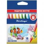 Мелки восковые Berlingo Рыбки 18 цветов