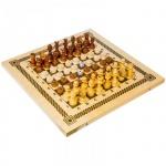 Игра настольная Орловские Шахматы Шашки, нарды и шахматы набор 3 в 1, деревянные с доской