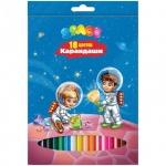 Набор цветных карандашей Office Space Космонавты 18 цветов