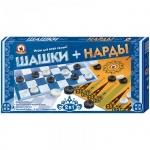 Игра настольная Русский Стиль Шашки-нарды набор 2 в 1, 38.5х38.5см