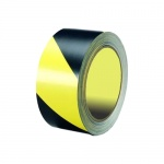 Лента оградительная Melhose 5см х 33 м, черно-желтая, KMSW05033
