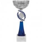 Кубок металлический Артанс Динара 23см, мрамор с серебром, синий