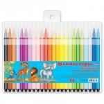 Фломастеры Hatber Мультяшки 24 цвета, трехгранные, смываемые