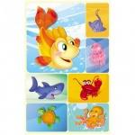 Наклейки декоративные детские Миленд Подводный мир, 15х9см