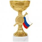 Кубок металлический Артанс Гелла 15см, мрамор с золотом, триколор
