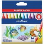Мелки восковые Berlingo Рыбки 24 цветов