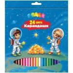 Набор цветных карандашей Office Space Космонавты 24 цвета