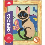 Фреска-картина из песка Lori, сиамская кошка