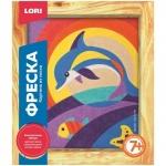 Фреска-картина из песка Lori, дельфин