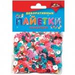 Материал декоративный Апплика Пайетки Незабудки