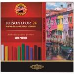 Пастель художественная Koh-I-Noor Toison d'or 24 цветов, мягкая