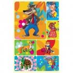 Наклейки декоративные детские Миленд Рисованные животные, 15х9см