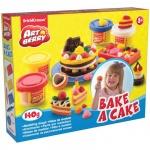 Масса для лепки Erich Krause Bake a Cake 4 цвета по 35г, с формочками