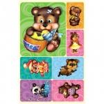 Наклейки декоративные детские Миленд Плюшевые медведи, 15х9см