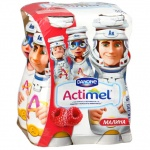Кисломолочный напиток Actimel Kids малина, 2.5%, 100г х 4шт