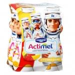 Кисломолочный напиток Actimel Kids клубника-банан, 2.5%, 100г х 4шт