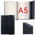Ежедневник недатированный Galant Black черный, А5, 176л, искусственная кожа