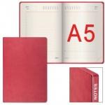Ежедневник недатированный Galant Bastian бордовый, A5, 176 листов, искусственная кожа