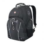 Рюкзак универсальный Wenger черный, серебристые вставки, 6939204408