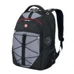 Рюкзак универсальный Wenger черно-серый, красные вставки, 6772204408