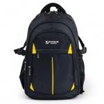 Рюкзак для мальчиков Brauberg Титаниум, черный, желтые вставки