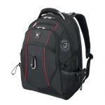Рюкзак универсальный Wenger черный, красные вставки, 6677202408