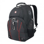 Рюкзак универсальный Wenger черный, красные вставки, 6939201408