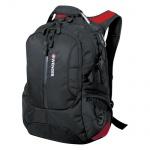 Рюкзак универсальный Wenger черный, красные вставки, 15912215
