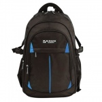 Рюкзак для мальчиков Brauberg Вихрь, черный, синие вставки